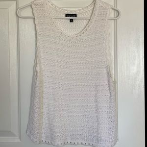 Knitted White Tank